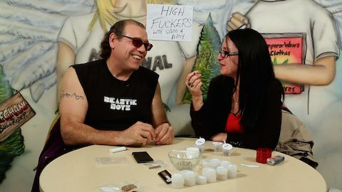 SwearNet's Sam and Amy at the cannabis Karma Cup in Toronto