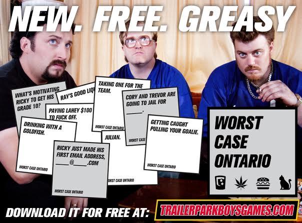 Trailer Park Boys free card game