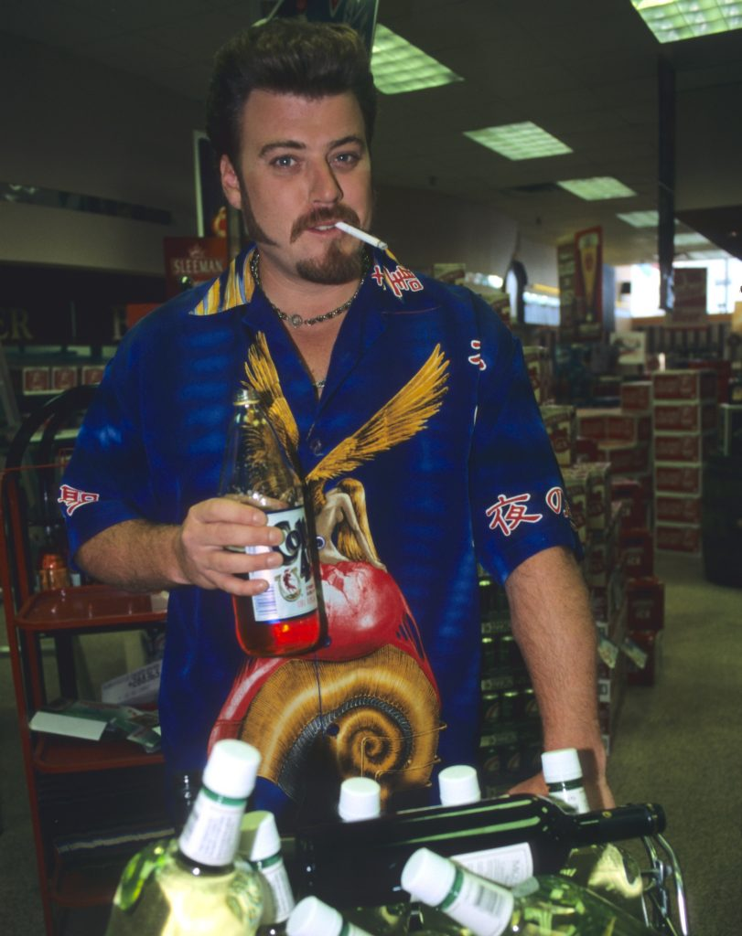 Ricky from Trailer Park Boys gets in the liquor