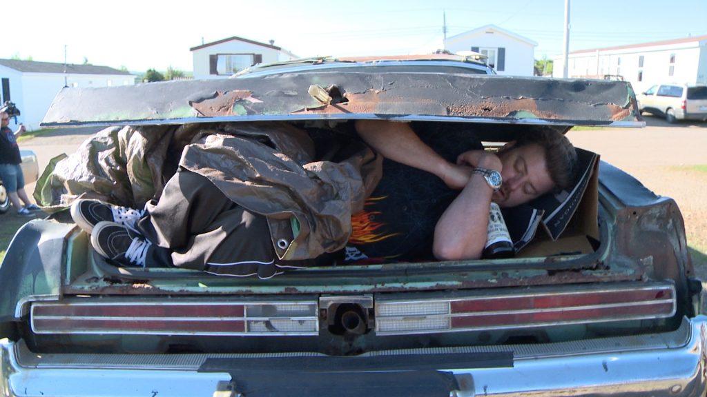 Ricky on the set of Trailer Park Boys S10