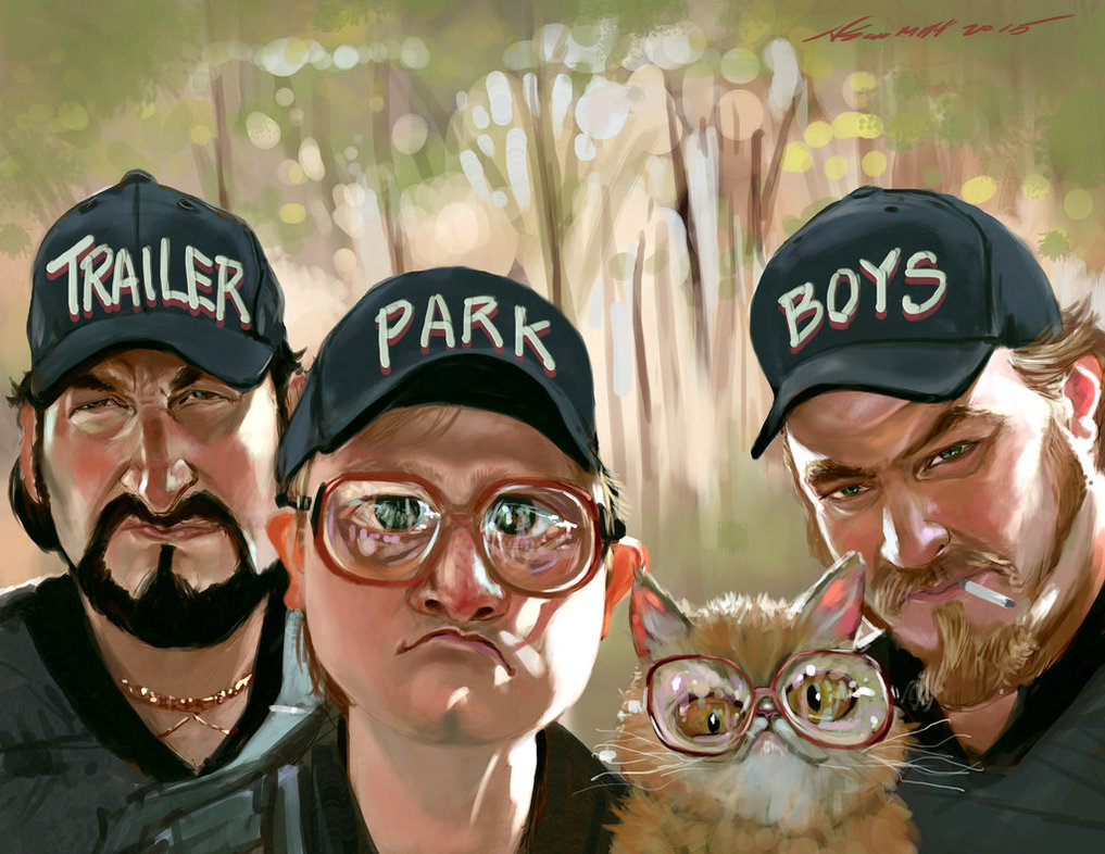 Trailer Park Boys and kitty fan art
