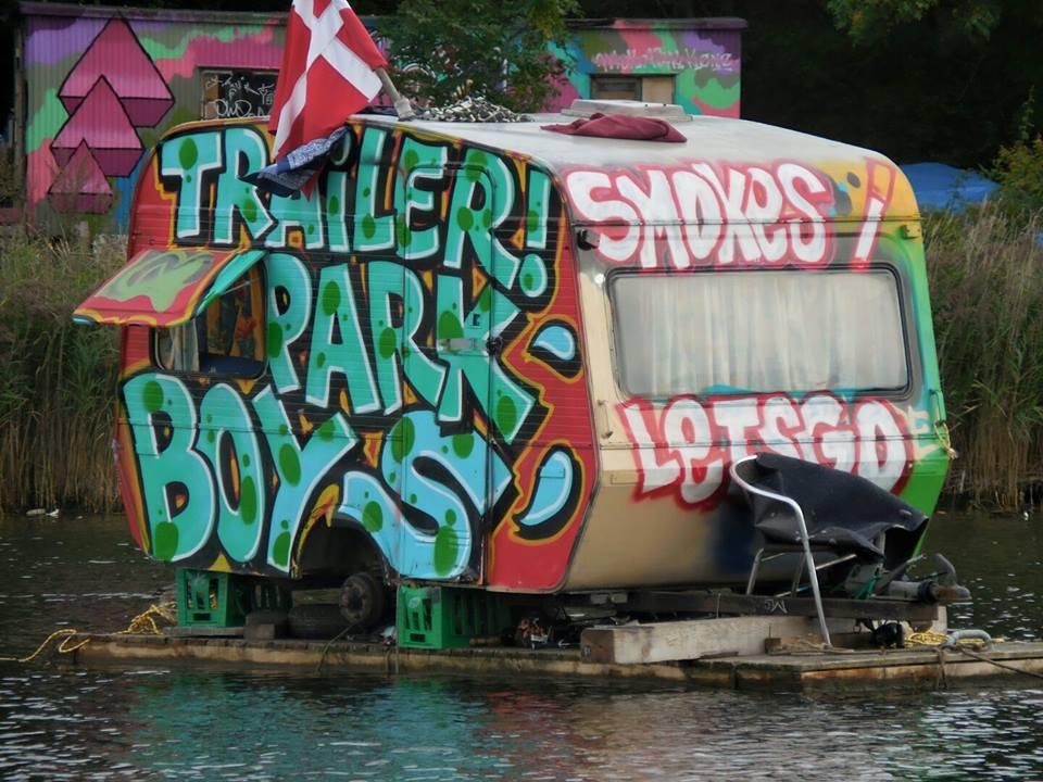 Trailer Park Boys trailer in Copenhagen, Denmark