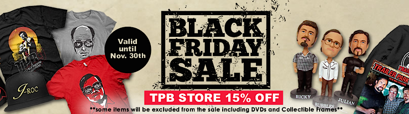 Black Friday sale at the Trailer Park Boys Store