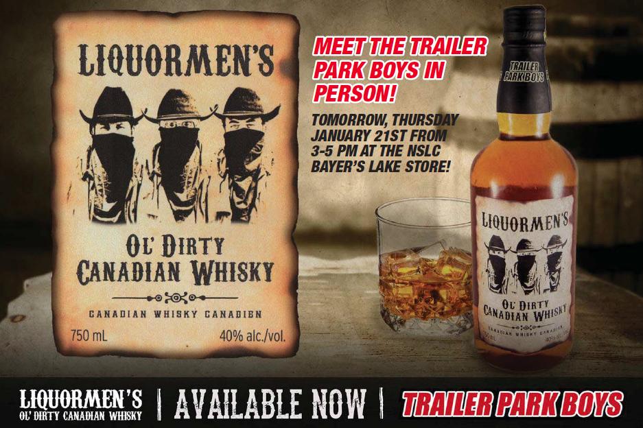 Meet the Trailer Park Boys at the Liquormen's whsky launch