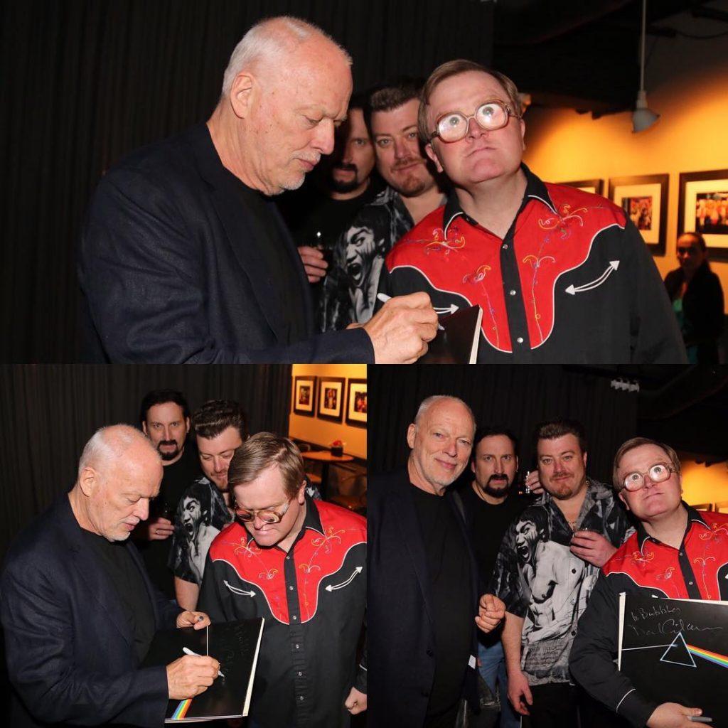 Bubbles meets David Gilmour