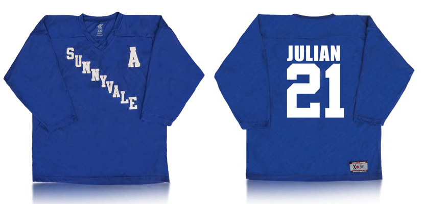 Julian Sunnyvale hockey jersey, now available at the Trailer Park Boys store