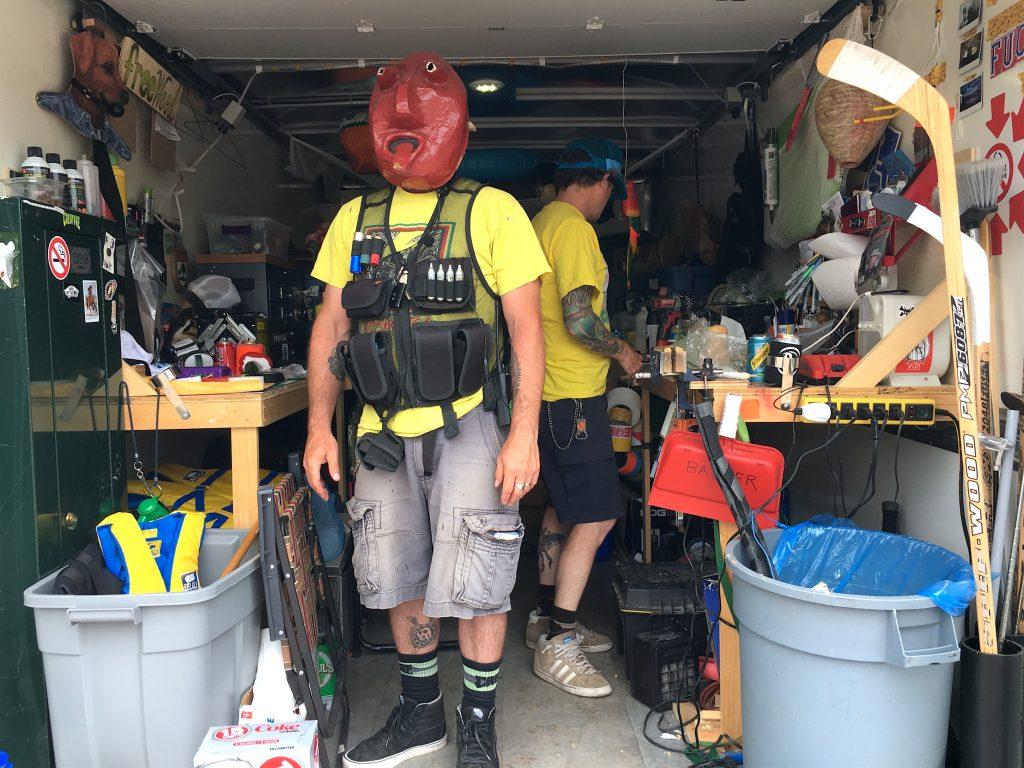 Prop master in his prop truck