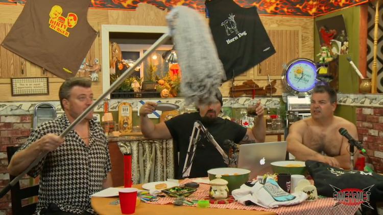 Ricky swings a dirty old salt and vinegar mop!