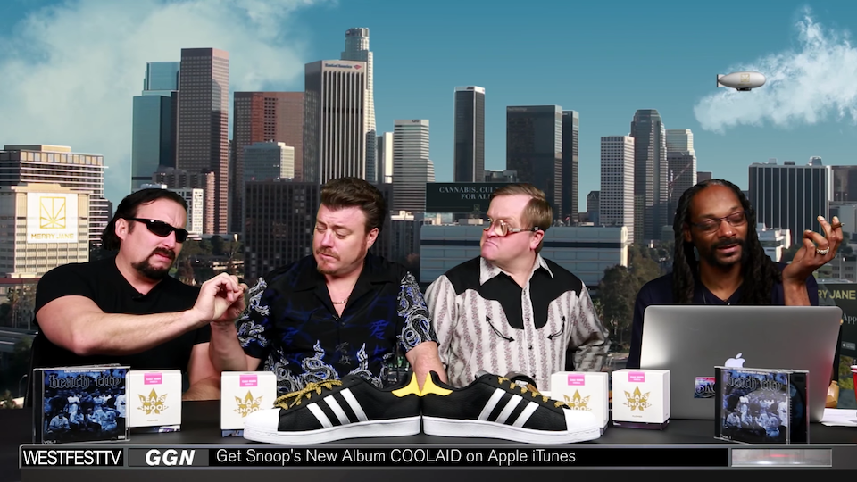 Julian, Ricky, and Bubbles with Snoop Dogg