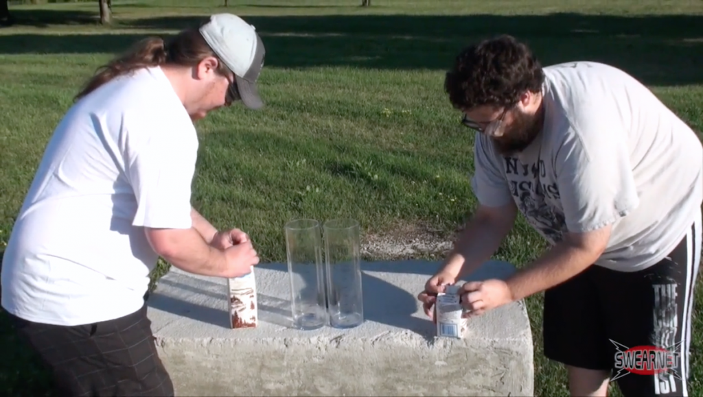 Rancid chocolate milk drinking contest