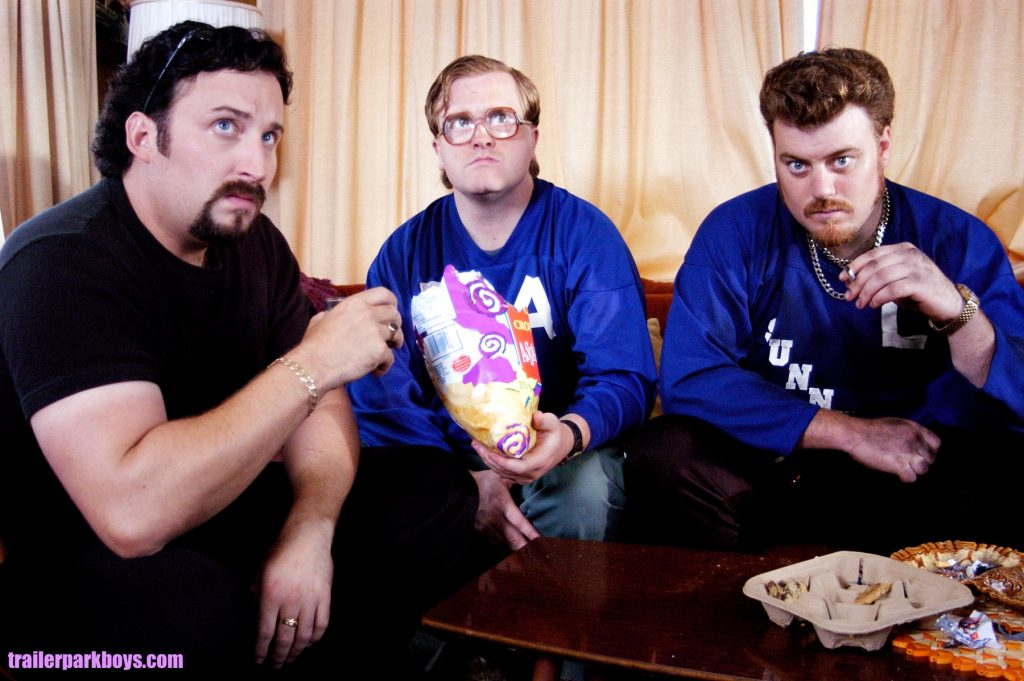 Ricky, Julian and Bubbles, and some delicious fuckin' chips!