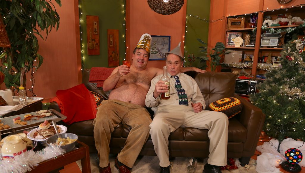 Mr. Lahey and Randy celebrate the New Year with a little drinky-poo!