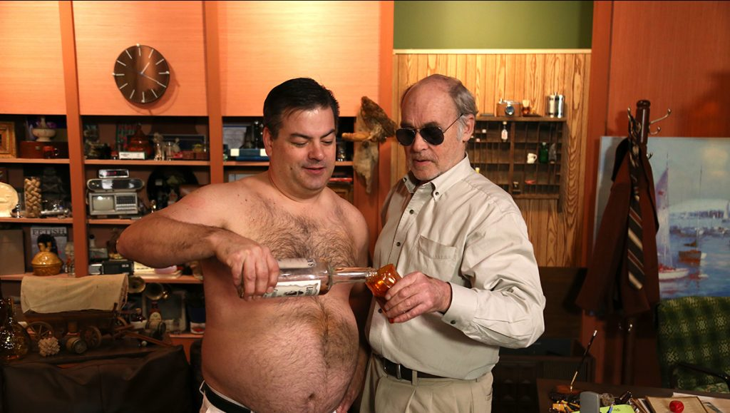 Randy pours Mr. Lahey a drink