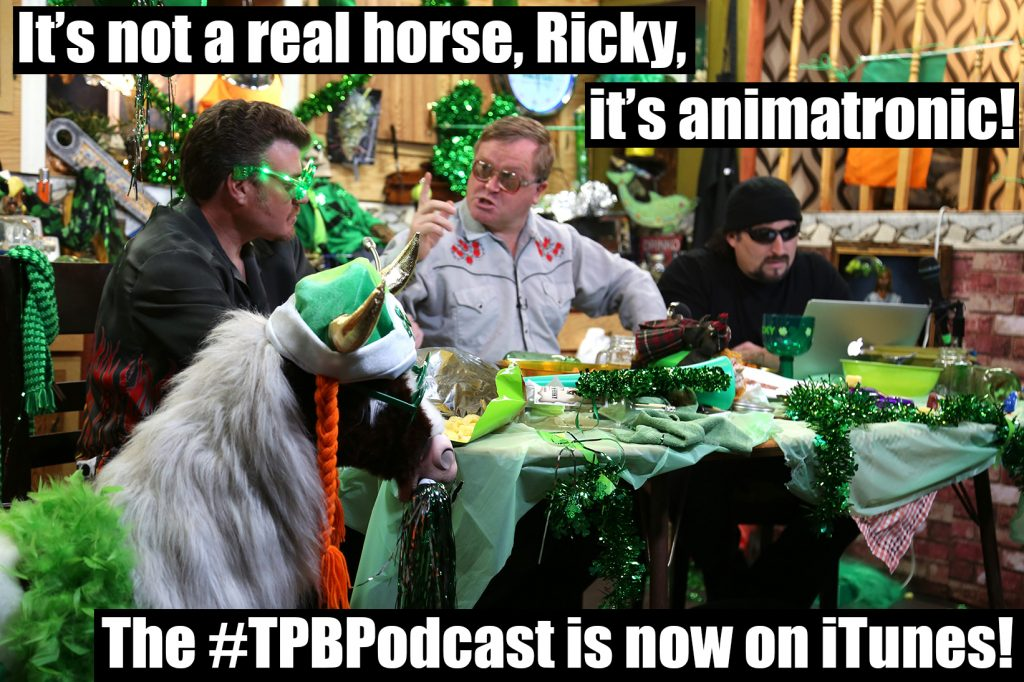 Bubbles tries to convince Ricky that the robot horse is not real