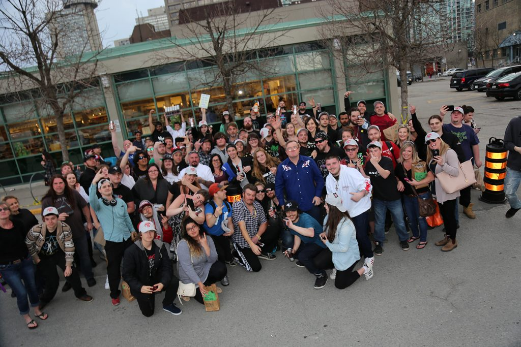 Fans gather with Ricky and Bubbles in Toronto