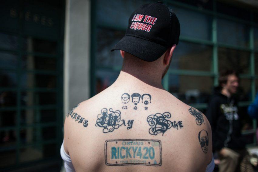A Trailer Park Boys super fan shows his tattoos in Toronto