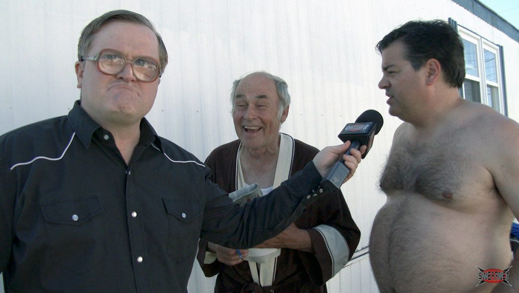 Bubbles interviews Randy and Lahey on the set of TPB12