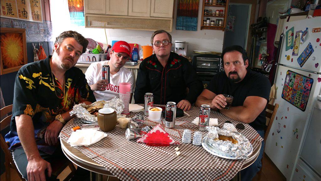 The Boys sit with hip-hop artist Quake Matthews