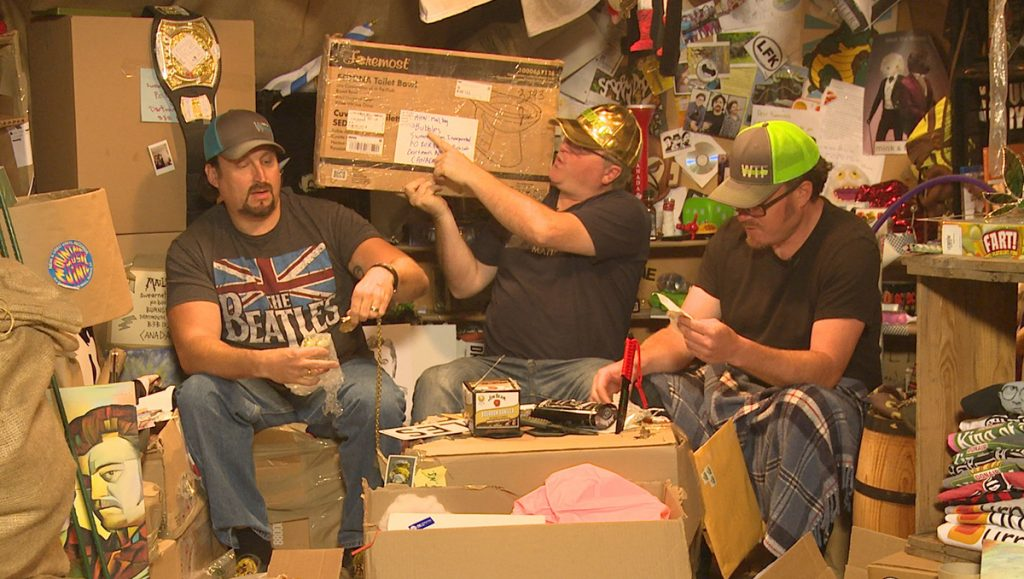 The Boys are sitting in the mailbag