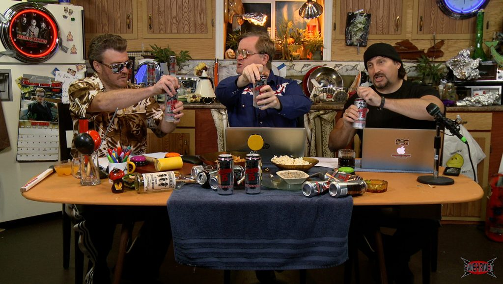 The Boys start the podcash by opening cans of TPB Freedom 35 lager