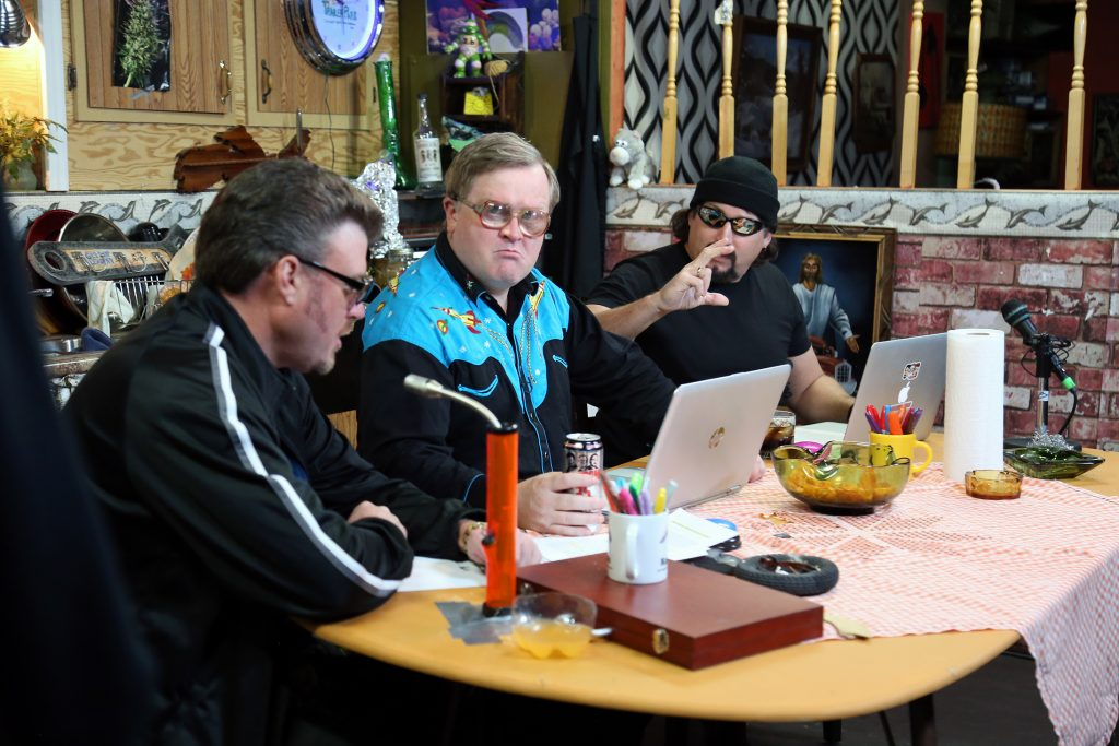 Ricky, Julian and Bubbles on the Trailer Park Boys Podcast