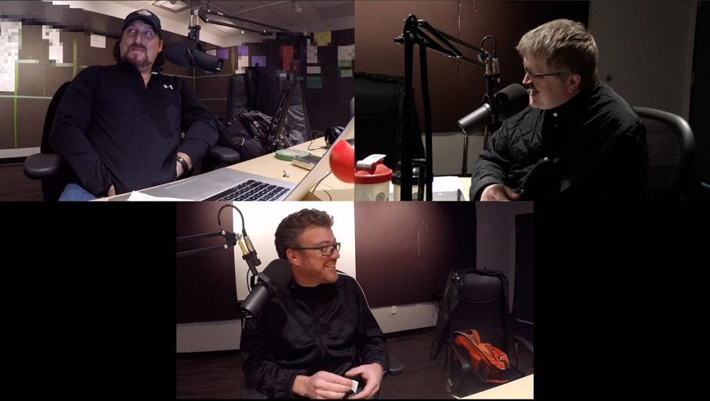 Robb, JP, and Mike try out some puppet voices
