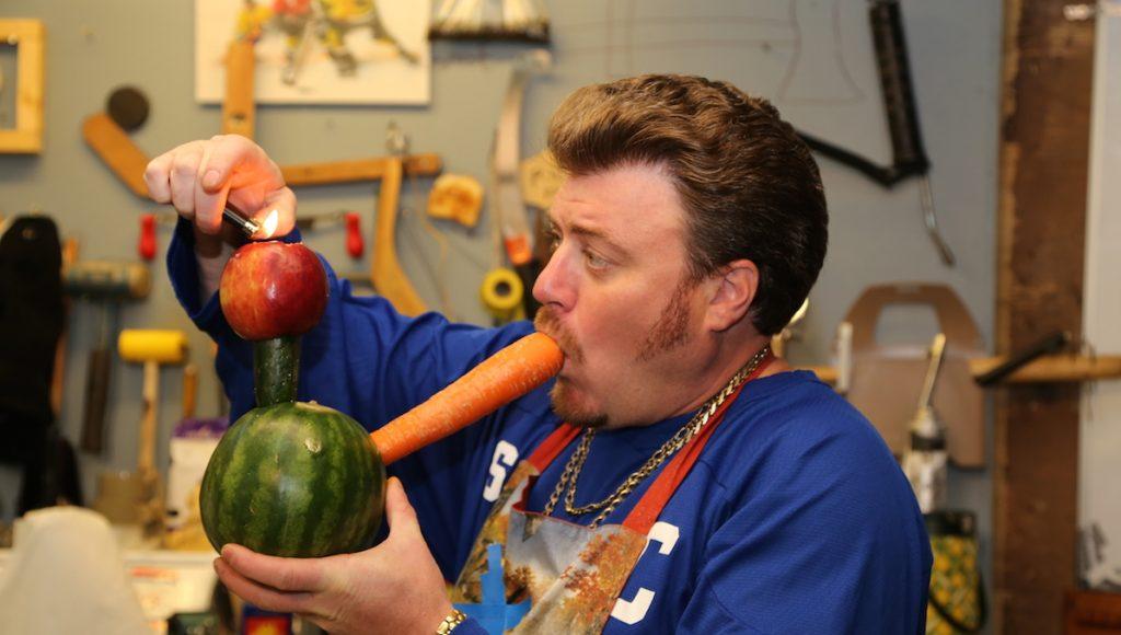 Ricky tests his organic bong