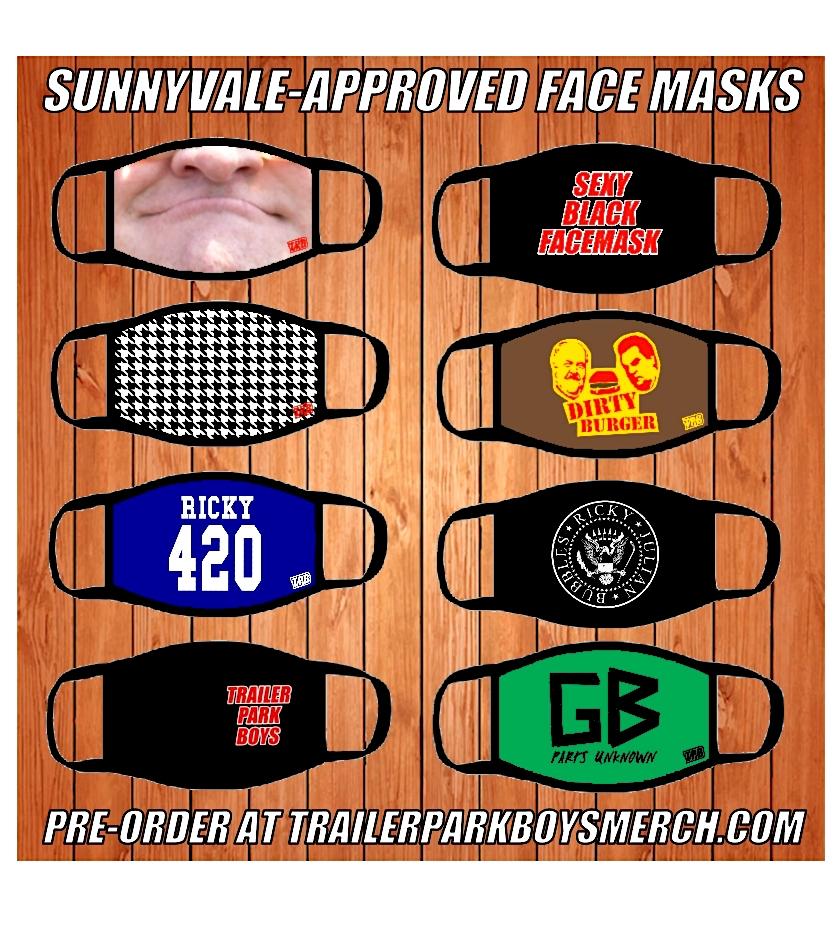 Official Trailer Park Boys face masks