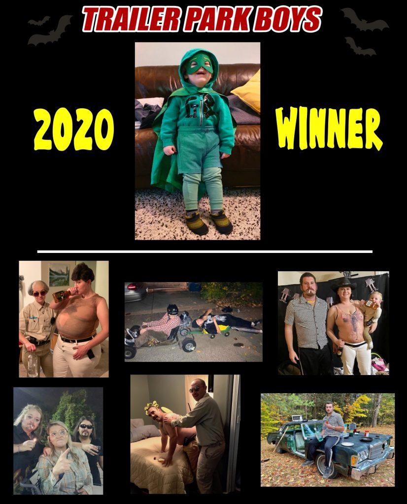 Trailer Park Boys Halloween contest winner 2020