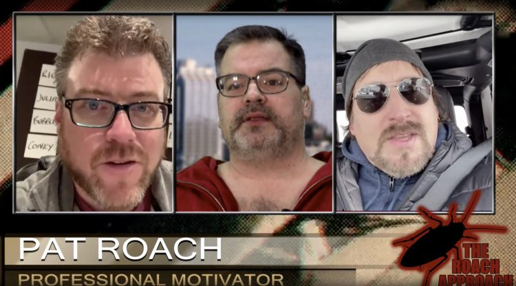 Pat gives Robb and JP motivational bullshit on The Roach Approach!