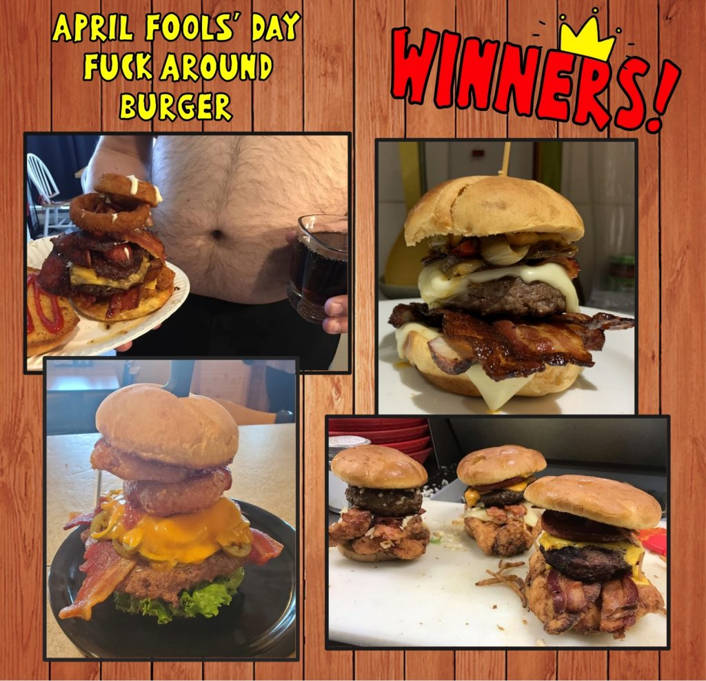 Trailer Park Boys cheeseburger contest - the winners