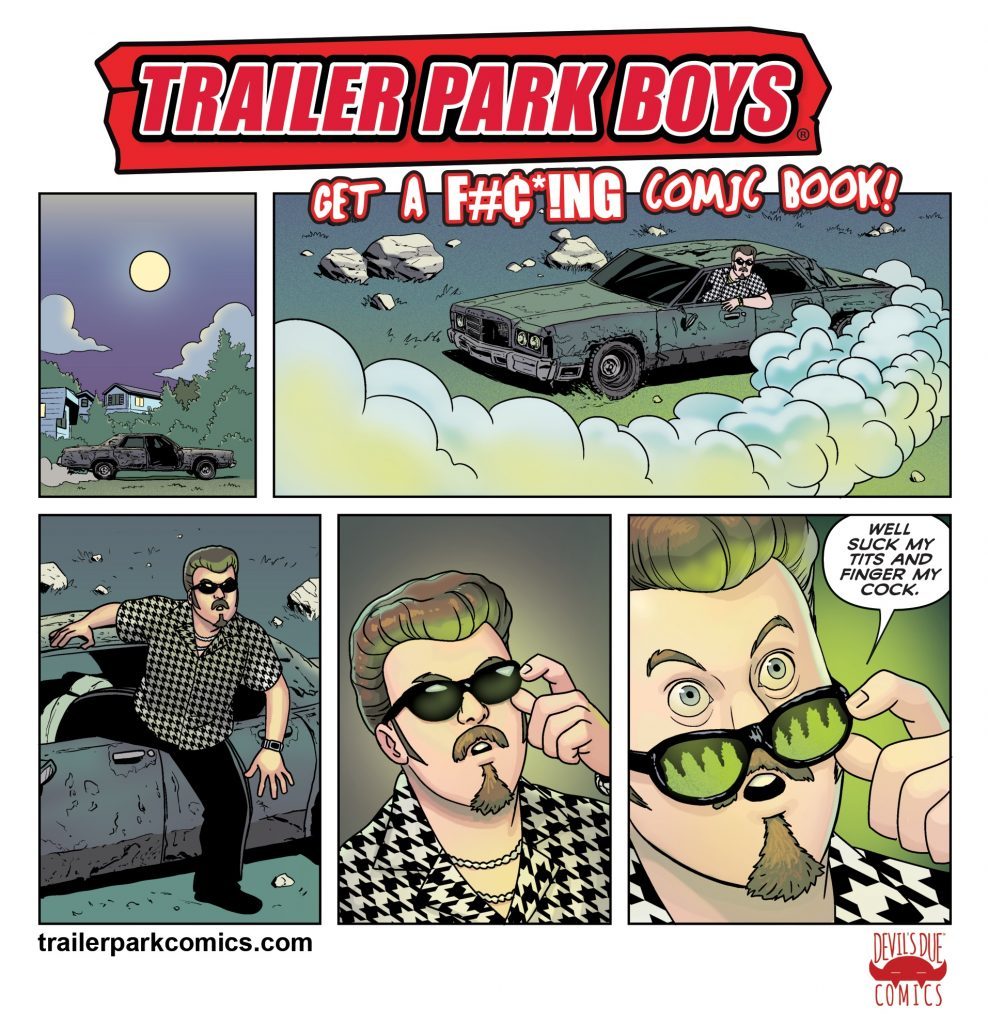 Ricky and the shitmobile in a new Trailer Park Boys comic