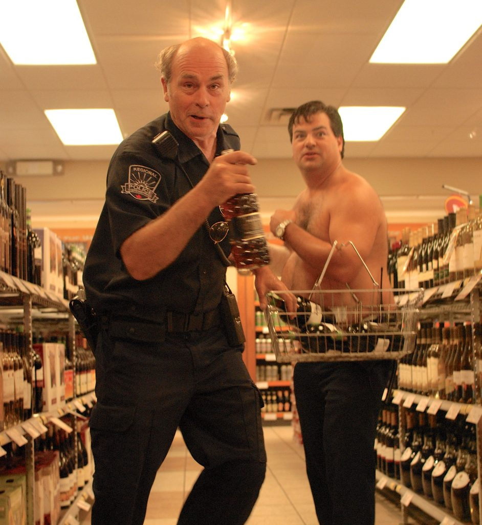 Jim Lahey and Randy at the liquor store