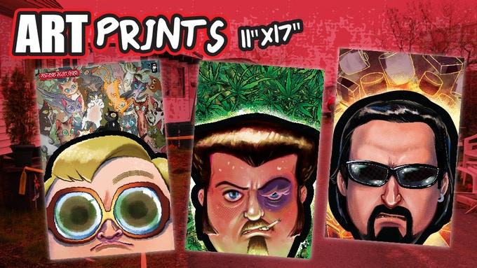 Trailer Park Boys limited edition comic book art prints